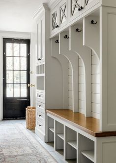 Farmhouse Entry by ACQUIRE Mudroom Laundry Room, Laundry Room Design, Shiplap Cladding, Bootroom, Washroom, Room Organization, Interior Styling, Coastal, Bathroom