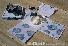 edle Holzbox - 2 - Stempelset: Fabulous Florets, Papillion Potpurri  Farben: Schiefergrau, Petrol, Lagunenblau Stampin'Up