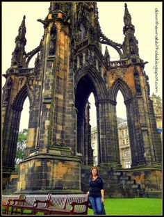 """Climb the 287 stairs up the Scott Monument in Edinburgh, Scotland. Find out more at """"Down the Wrabbit Hole - The Travel Bucket List"""". Click the image for the blog post."""
