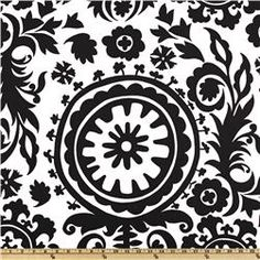 Premier Prints Suzani White/Black for headboard