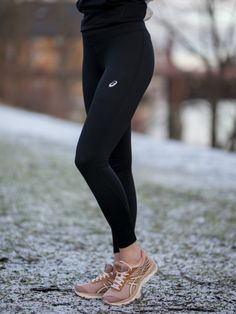 Asics Silver Winter Tights - Black | GetInspired.no Black Tights, Black Jeans, Winter Tights, Asics, Silver, Pants, Fashion, Black Socks, Trouser Pants