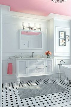 Love the vanity!  Marble - complex, Crown molding, Contemporary, Modern, Claw Foot, Flat Panel, Inset, Undermount, Master, Chandelier