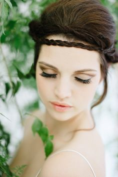 braided hairstyle, photo by Debbie Lourens http://ruffledblog.com/nile-inspired-wedding-ideas #weddinghair #hair #Makeup