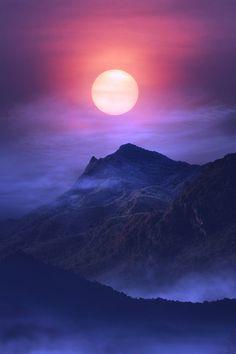 ༻神*ŦƶȠ*神༺ photo . a thing of beauty . Moon Photography, Creative Photography, Landscape Photography, Shoot The Moon, Moon Pictures, Good Night Moon, Beautiful Moon, Amazing Nature, Nature Photos