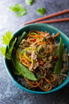 Lemongrass Thai Ground Pork Stir Fry, an easy and healthy dinner recipe ready in 30 minutes!