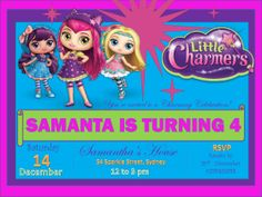 Invite all your guests to your next Little Charmers Party with Instant Party's Little Charmers Personalised Party Invitation