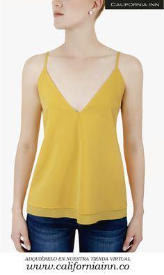 Top en V Isabella, con doble tela cuello en v tela viscosa, colores de verano. Tallas: S-M-L