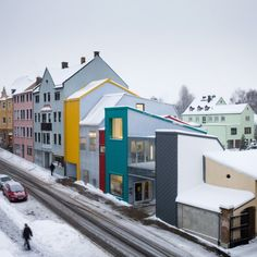 colorful houses in Selb, Germany