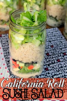 Try this deconstructed California roll sushi salad for a budget friendly alternative to your favorite bite sized lunch.