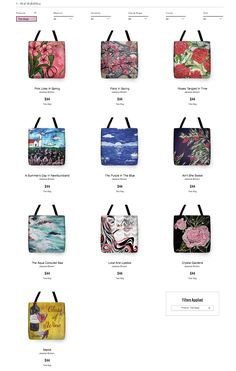 As you all know Spring is right around the corner! Now you can buy tote bags, pouches, mugs and home decor directly on my website! Tote bags are excellent for those relaxing days on the beach. Or just using it for a fashionable purse for a night out! Pouches of all different sizes, with unique patterns and can make your outfit stand out from the crowd. Throw pillows will make your living place a little more comfortable. Mugs are always useful for your morning coffee, or that tasty afternoon…