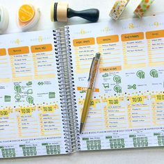 Planner Pages created by contributor Wan Chim Lin using the Sweet Stamp Shop Plan to Eat and Take Note stamp sets