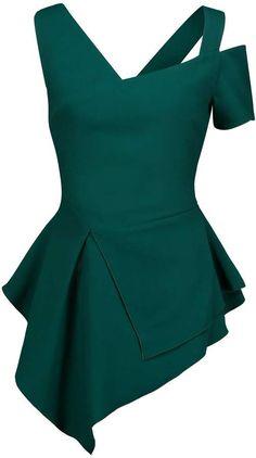 Antonio Berardi Women Top on YOOX. The best online selection of Tops Antonio Berardi. African Wear, African Fashion, Blouse Styles, Blouse Designs, Couture Dresses, Fashion Dresses, African Blouses, Western Dresses, Dress Sewing Patterns