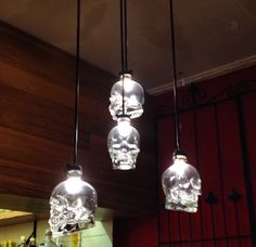Crystal head vodka skull lights