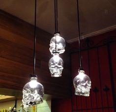 Crystal head vodka skull lights