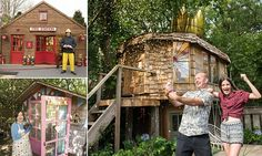 Mushroom-shaped treehouse named Britain's best shed | Daily Mail Online