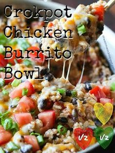 One-Pot Chicken Burrito Bowls This One-Pan Chicken Burrito Bowl recipe is one of my new favorites. It's packed with flavor and so easy to make. Its great in a bowl or as a burrito! Chicken Burrito Bowl, Chicken Burritos, Burrito Bowls, Burrito Burrito, Chipotle Chicken Bowl, Burrito Bowl Meal Prep, Chipotle Burrito Bowl, One Pan Chicken, Chicken Rice