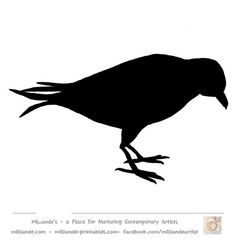 Crow Silhouette Bird Silhouette Stencil Template Crow
