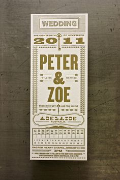 Invite design by Kate Arends; letterpress printing by Studio on Fire