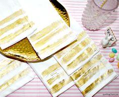 DIY Gold Foil Servie