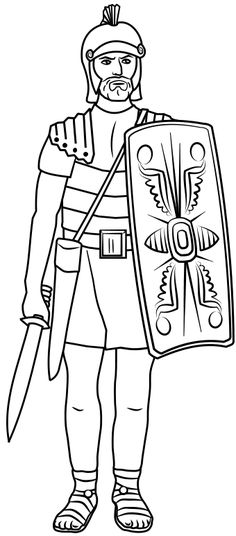 Centurion Soldier Colouring Pages