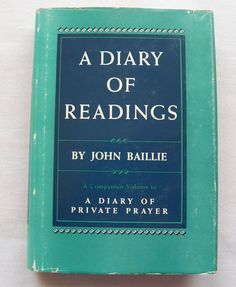 $10.00 A Diary of Readings 1955 HC DJ (102815-1805MS) antique books