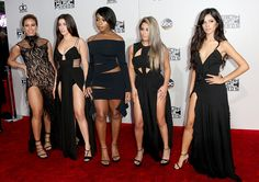 Dinah Jane Hansen, Lauren Jauregui, Normani Hamilton, Ally Brooke and Camila Cabello of musical group Fifth Harmony at 2016 AMA