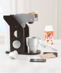 Look what I found on #zulily! KidKraft Espresso Coffee Maker Play Set by KidKraft #zulilyfinds