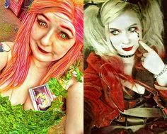 Poison Ivy Harley Quinn double trouble cosplay friends