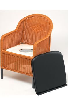 Stylish and functional the Wicker Commode is a handy bathroom aid.