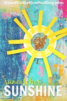 Paper Plate Suncatcher Sunshine - Kid Craft Idea