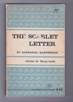 Scarlet Letter by Nathaniel Hawthorne 1960s vintage trade paperback,  @AnemoneReadsVintage