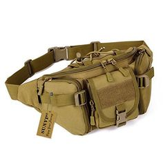 From 13.38 Sunvp Tactical Waist Pack Waterproof Large Military Fanny Pack Bag Hip Belt Pouch Bumbag For Outdoors Camping Trekking Hiking Brown