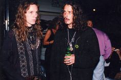 Soundgarden- Chris with a Heineken!