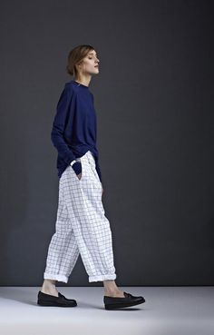 kowtow A/W '14 look book - I know I'd look kind of dumb in this but it's such a stylish outfit.