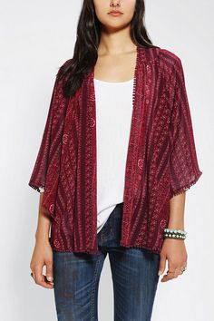 Urban Outfitters - Ecote Chiffon Kimono Jacket