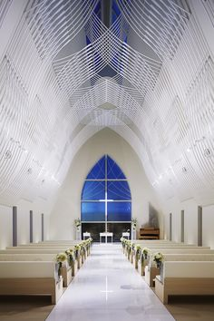 Built by Kasahara Design Work in Chūō-ku, Japan with date 2014. Images by Nacasa & Partners. We designed the chapel of new construction along the Shinano River Kamitokoro, Niigata-city. It had been completed on...