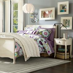 teen bedding for girls | whimsical print in a fresh color combination bursts across 100% ...
