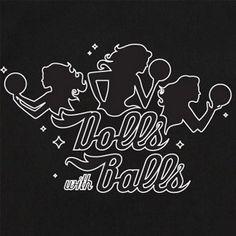 d671a2aa BowlingShirt.com - Dolls with Balls on Bowling Shirts Vintage Bowling Shirts,  Funny Bowling