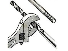 To measure a drill bit to bore a pilot hole for a nut and bolt assembly, our August 1965 issue recommended using an adjustable wrench as a crude caliper to determine the bolt's diameter. Then match the wrench jaw's reading with a corresponding drill-bit diameter.   - PopularMechanics.com