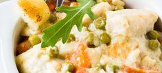 Kuracie kúsky so zeleninovo-smotanovou omáčkou