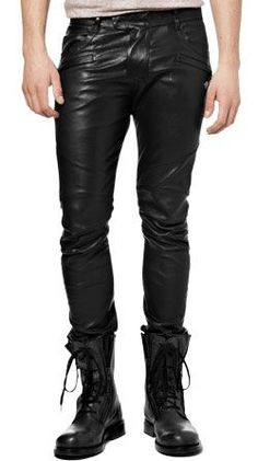 Buy rock star style mens leather pants online