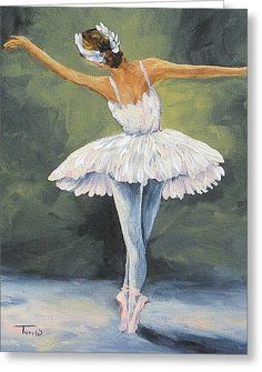 The Ballerina II Greeting Card by Torrie Smiley
