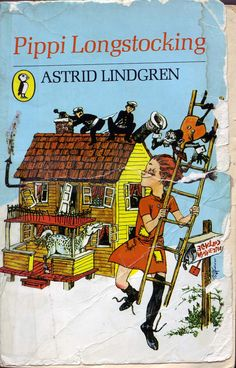 Pippi Longstocking: Astrid Lindgren I'd love to do this to our useless local police. Pippi was my first childhood role model. She is superb. Pippi Longstocking, Reading Rainbow, Kids Story Books, Book Writer, Funny Cards, Film, Book Design, Book Worms, Childhood Memories