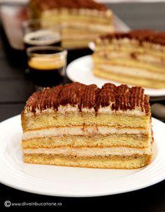 PRAJITURA TIRAMISU   Diva in bucatarie Tiramisu Cake, Vanilla Cake, Dessert Recipes, Candy, Ethnic Recipes, Sweet, Food, Diva, Bar
