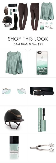 """Mint Chocolate"" by equestrianartist ❤ liked on Polyvore featuring Casetify, Wolf & Moon, Ariat, Kask, Roeckl, Too Faced Cosmetics and Butter London"
