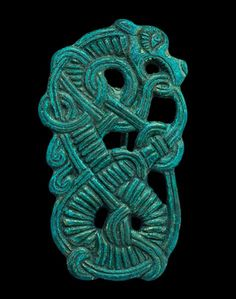Ancient & Medieval History - Viking Bronze Enmeshed Dragon Brooch, 10th Century