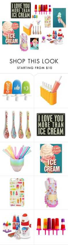 """""""Sarah makes ice cream"""" by stay-strongforever ❤ liked on Polyvore featuring interior, interiors, interior design, home, home decor, interior decorating, Zoku, Miya Company, Primitives By Kathy and Disney"""