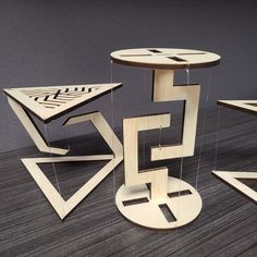 These unique floating structures appear to defy physics as they levitate. A great addition to any office or home decor! Available at our shop now. Woodworking Projects Diy, Woodworking Shop, Wood Projects, Rope Shelves, Wooden Shelves, Floating Table, Wooden Coasters, Diy Kits, Cool Furniture
