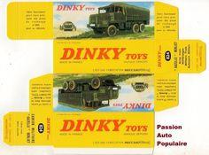 DINKY TOYS 824 : BERLIET GAZELLE ARMY TRUCK boite repro / reprobox   eBay