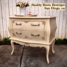 Beautiful french bombay chest. Romantic and by ShabbyRootsBoutique